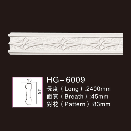 Reliable Supplier Flat Ceiling Medallions - Carving Chair Rails1-HG-6009 – HUAGE DECORATIVE