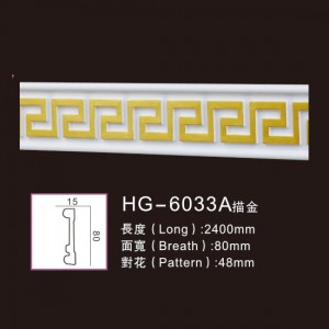 Effect Of Line Plate-HG-6033A outline in gold