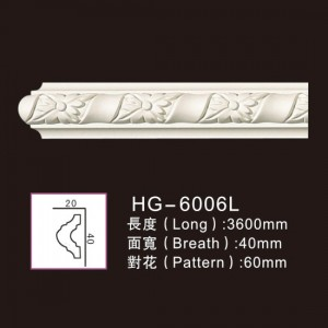 Hot Sale for Cornice Crown Moulding - 3.6M Long Lines-HG-6006L – HUAGE DECORATIVE