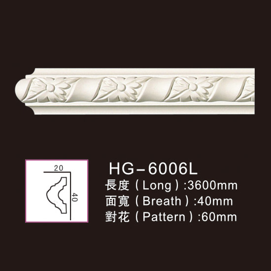 Manufacturer of Pvc Foamed Crown Moulding - 3.6M Long Lines-HG-6006L – HUAGE DECORATIVE