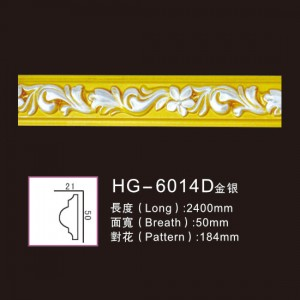 Best quality Cantera Stone Columns - Effect Of Line Plate-HG-6014D gold silver – HUAGE DECORATIVE