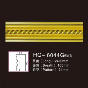 Effect Of Line Plate1-HG-6044G Antique Gold