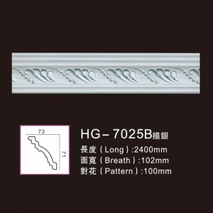 Effect Of Line Plate-HG-7025B outline in silver