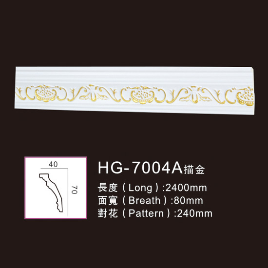 Super Lowest Price Award Medallion - Effect Of Line Plate-HG-7004A outline in gold – HUAGE DECORATIVE
