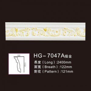 Effect Of Line Plate-HG-7047A outline in gold