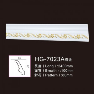 Ordinary Discount Promotional Pu Medallions - Effect Of Line Plate-HG-7023A outline in gold – HUAGE DECORATIVE