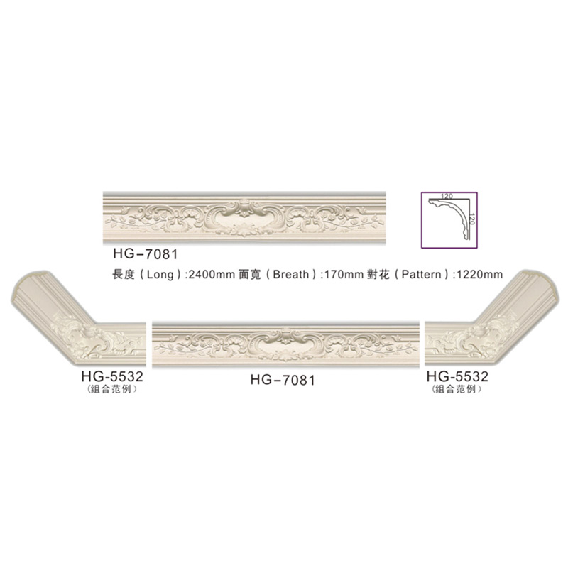 2019 wholesale price White Marble Crown Moulding -