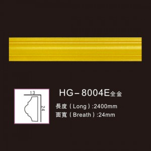 High Quality for Stone Hollow Columns - Effect Of Line Plate-HG-8004E full gold – HUAGE DECORATIVE