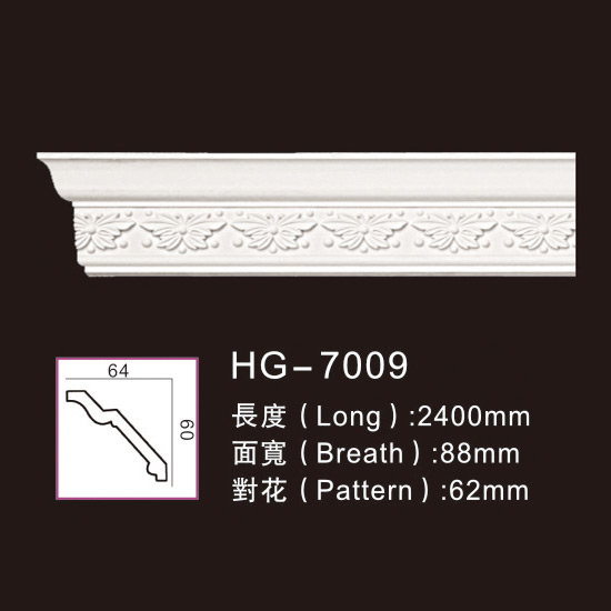 Factory Price For Decorative Polyurethane Crown Moulding - Carving Cornice Mouldings-HG7009 – HUAGE DECORATIVE Featured Image