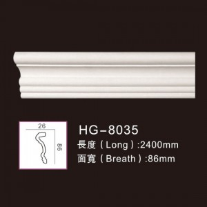 China Gold Supplier for Column Molds For Sale - Plain Mouldings-HG-8035 – HUAGE DECORATIVE