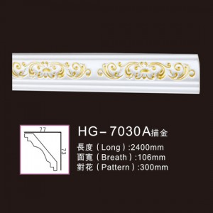 Effect Of Line Plate-HG-7030A outline in gold
