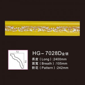 Effect Of Line Plate-HG-7028D gold silver
