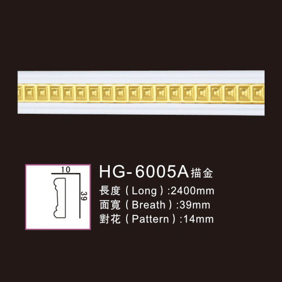 New Delivery for Roma Colum - Effect Of Line Plate-HG-6005A outline in gold – HUAGE DECORATIVE Featured Image