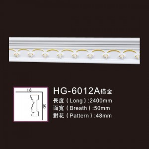 Factory Promotional Marble Fireplace Hearth - Effect Of Line Plate-HG-6012A outline in gold – HUAGE DECORATIVE