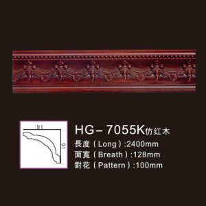 Manufacturer of Gold Chains And Medallions - Effect Of Line Plate1-HG-7055K Imitation Mahogany – HUAGE DECORATIVE