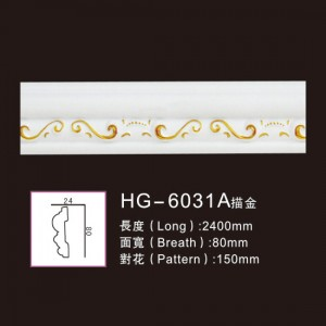 OEM Manufacturer Ceiling Crown Moulding - Effect Of Line Plate-HG-6031A outline in gold – HUAGE DECORATIVE