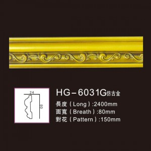 Factory directly Decoration Ceiling Medallion - Effect Of Line Plate1-HG-6031G Antique Gold – HUAGE DECORATIVE