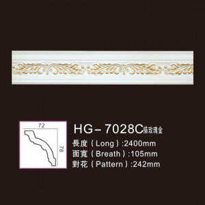 Good Quality Marble Fireplace - Effect Of Line Plate-HG-7028C outline in rose gold – HUAGE DECORATIVE