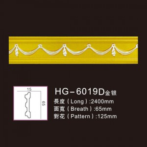 Factory wholesale Picture Frame - Effect Of Line Plate-HG-6019D gold silver – HUAGE DECORATIVE