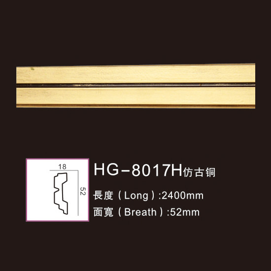 Super Purchasing for Making Roman Column For Sale - Effect Of Line Plate1-HG-8017H Antique Brass – HUAGE DECORATIVE