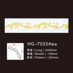 Effect Of Line Plate-HG-7033A outline in gold
