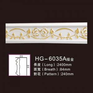 Effect Of Line Plate-HG-6035A outline in gold