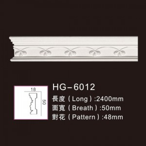 OEM China China Crown Moulding - Carving Chair Rails1-HG-6012 – HUAGE DECORATIVE
