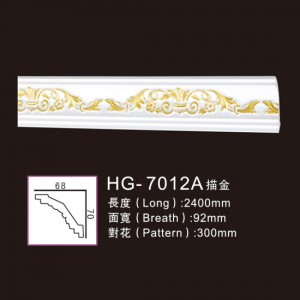 Effect Of Line Plate-HG-7012A outline in gold