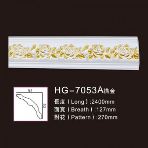 Effect Of Line Plate-HG-7053A outline in gold