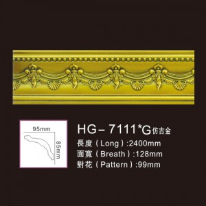 Effect Of Line Plate1-HG-7111G Antique Gold