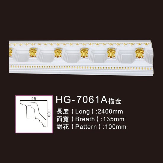 Wholesale Price Carved Cornice - Effect Of Line Plate-HG-7061A outline in gold – HUAGE DECORATIVE Featured Image