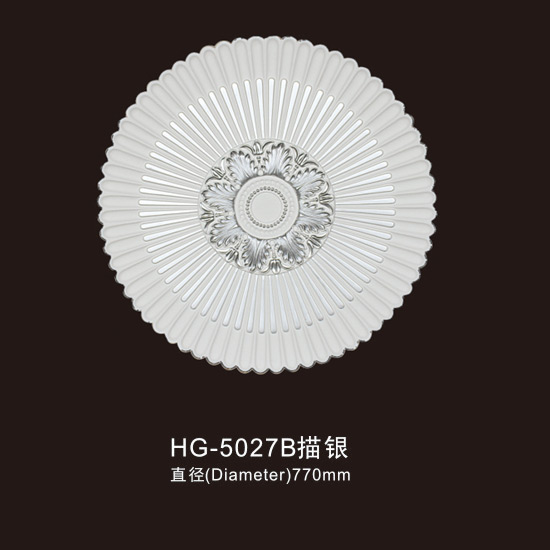 Factory directly Machine Marble Column - Ceiling Mouldings-HG-5027B outline in silver – HUAGE DECORATIVE