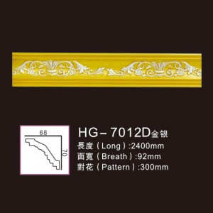 Effect Of Line Plate-HG-7012D gold silver
