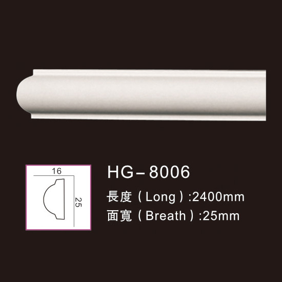 High Performance Gypsum Ceiling Crown Moulding - Plain  Mouldings-HG-8006 – HUAGE DECORATIVE
