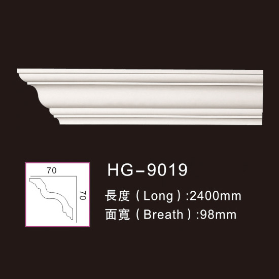 Hot sale Pu Foam Exterior Crown Moulding -