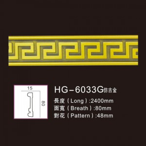 Effect Of Line Plate1-HG-6033G Antique Gold
