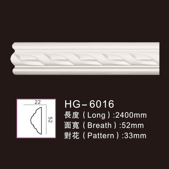 Factory Cheap Hot Plain Cornice Moulding - Carving Chair Rails1-HG-6016 – HUAGE DECORATIVE