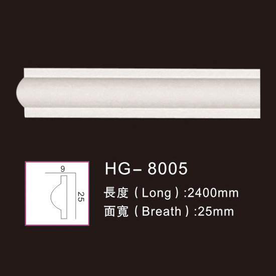 High Quality Polyurethan Moulding - Plain  Mouldings-HG-8005 – HUAGE DECORATIVE