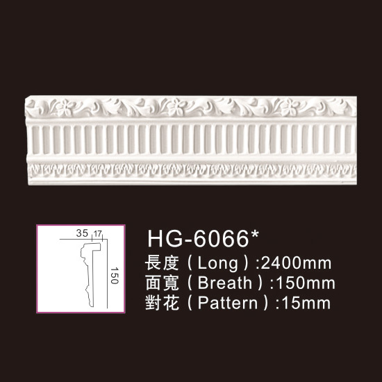 PriceList for Crown Polyurethane Daecorative Moulding - Carving Chair Rails1-HG-6066 – HUAGE DECORATIVE
