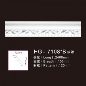 OEM Manufacturer Mantel Fireplace - Effect Of Line Plate-HG-7108B outline in silver – HUAGE DECORATIVE