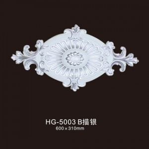 Ceiling Mouldings-HG-5003B outline in silver