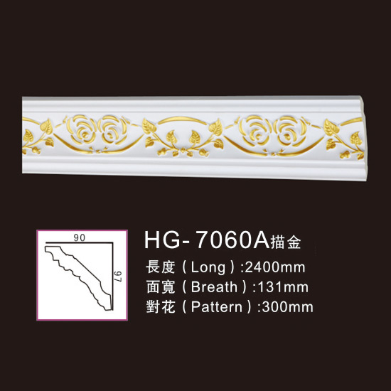 Effect Of Line Plate-HG-7060A outline in gold Featured Image