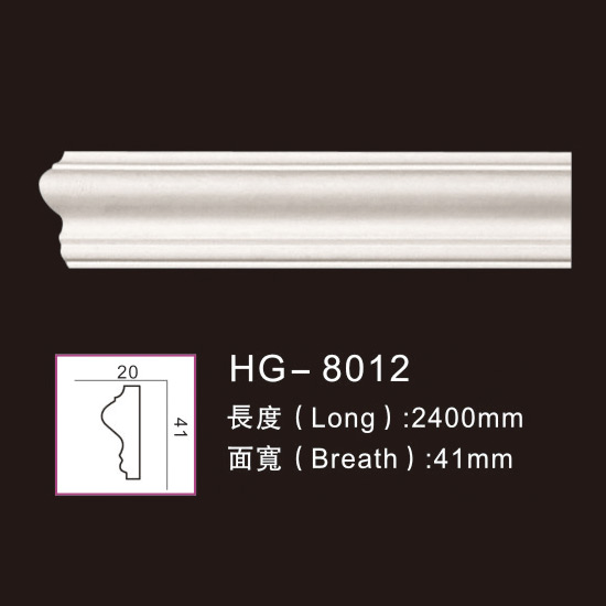 Professional China Ps Cornice Crown Moulding - Plain Mouldings-HG-8012 – HUAGE DECORATIVE