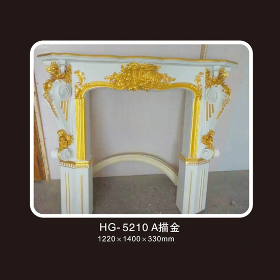 OEM Customized Germany Moulding - Fireplace Corbels & Surface Mounted Nicbes-HG-5210A outline in gold – HUAGE DECORATIVE