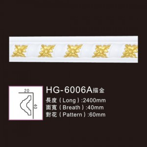 Effect Of Line Plate-HG-6006A outline in gold