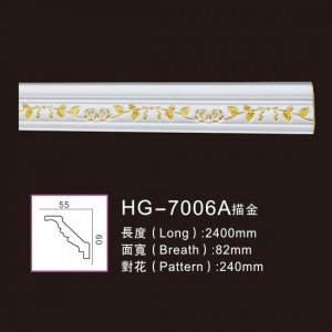 Effect Of Line Plate-HG-7006A outline in gold