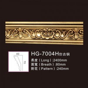 Manufactur standard PU Pain Moulding - Effect Of Line Plate1-HG-7004H Antique Copper – HUAGE DECORATIVE