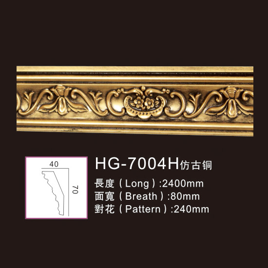 Manufactur standard PU Pain Moulding -