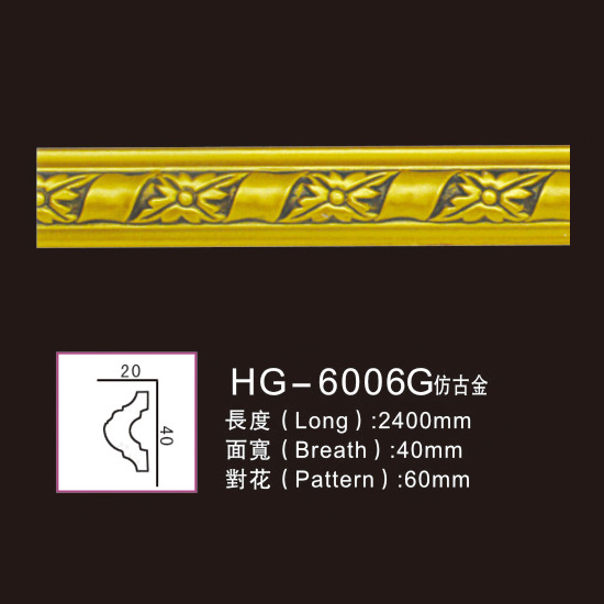 OEM manufacturer Medallion Medal Emblem - Effect Of Line Plate1-HG-6006G Antique Gold – HUAGE DECORATIVE