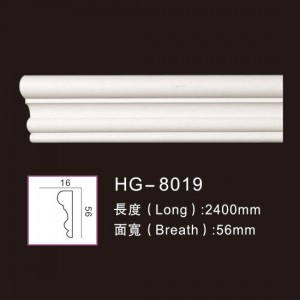 Good Wholesale Vendors Walnut Veneer Mdf - Plain Mouldings-HG-8019 – HUAGE DECORATIVE